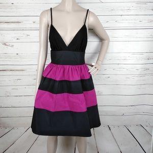 VOOM Joy Han Black Purple Color Block Dress